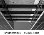 urban geometry  looking up to... | Shutterstock . vector #605087585
