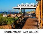 east hampton  ny  usa july 26 ... | Shutterstock . vector #605108621