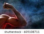 man arm muscle | Shutterstock . vector #605108711