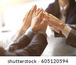 image of business people hands... | Shutterstock . vector #605120594