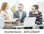 senior manager and members of... | Shutterstock . vector #605120669