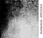 distress grunge halftone... | Shutterstock .eps vector #605121611