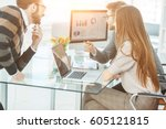 specialist in finance and... | Shutterstock . vector #605121815