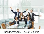 success concept in business  ... | Shutterstock . vector #605125445