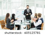 senior manager of the company...   Shutterstock . vector #605125781