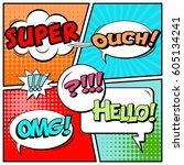 abstract creative concept comic ... | Shutterstock .eps vector #605134241
