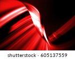 moving traffic light trails at... | Shutterstock . vector #605137559