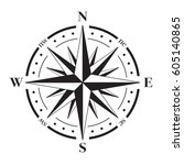 a vector compass rose with...   Shutterstock .eps vector #605140865