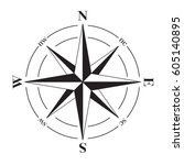 a vector compass rose with...   Shutterstock .eps vector #605140895