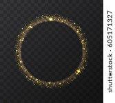 abstract light gold vector... | Shutterstock .eps vector #605171327