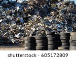 Rubber Tire Recycling. Old Use...