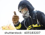 firefighters   fireman like... | Shutterstock . vector #605183207