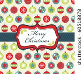 wrapping paper with blue  green ... | Shutterstock .eps vector #60518878