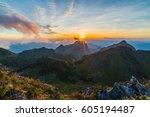 Landscape Of Sunset On Mountain ...