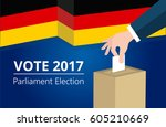 germany democracy political... | Shutterstock .eps vector #605210669
