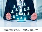 customer care  insurance  care... | Shutterstock . vector #605213879