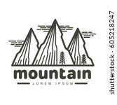mountains and outdoor... | Shutterstock .eps vector #605218247