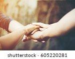 business teamwork standing... | Shutterstock . vector #605220281