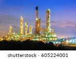 refinery oil and gas industry | Shutterstock . vector #605224001