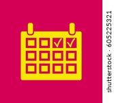 calendar vector icon.   Shutterstock .eps vector #605225321
