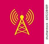 antenna.vector icon. radio...   Shutterstock .eps vector #605228489
