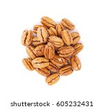 Pecan Nuts. Isolated On White...