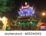 shangtang historical area night ... | Shutterstock . vector #605244341