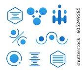 simple science logo set on...   Shutterstock .eps vector #605249285