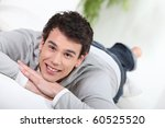 portrait of a young man relaxed | Shutterstock . vector #60525520