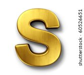 3d rendering of the letter s in ... | Shutterstock . vector #60526651