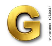 3d rendering of the letter g in ... | Shutterstock . vector #60526684