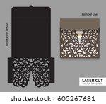 digital vector file for laser... | Shutterstock .eps vector #605267681