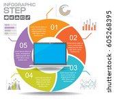 vector circle infographic.... | Shutterstock .eps vector #605268395