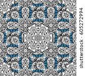 golden snowflake seamless... | Shutterstock . vector #605272994