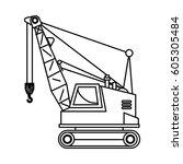 construction trucks design | Shutterstock .eps vector #605305484