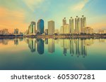 bangkok city downtown  bangkok... | Shutterstock . vector #605307281