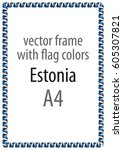 frame and border of ribbon with ... | Shutterstock .eps vector #605307821