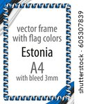 frame and border of ribbon with ... | Shutterstock .eps vector #605307839