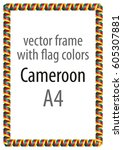 frame and border of ribbon with ... | Shutterstock .eps vector #605307881