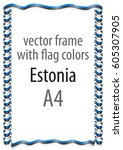frame and border of ribbon with ... | Shutterstock .eps vector #605307905