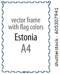 frame and border of ribbon with ... | Shutterstock .eps vector #605307941