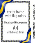 frame and border of ribbon with ... | Shutterstock .eps vector #605309015