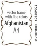 frame and border of ribbon with ... | Shutterstock .eps vector #605309021