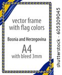 frame and border of ribbon with ... | Shutterstock .eps vector #605309045