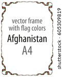 frame and border of ribbon with ... | Shutterstock .eps vector #605309819