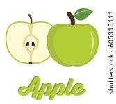 vector illustration of ripe...   Shutterstock .eps vector #605315111