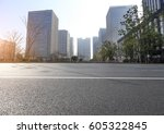 modern city road and building | Shutterstock . vector #605322845