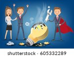 leaders who are best  problem... | Shutterstock .eps vector #605332289