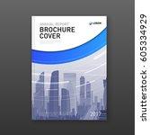 business brochure cover design... | Shutterstock .eps vector #605334929