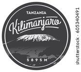 mount kilimanjaro in africa ... | Shutterstock .eps vector #605340491